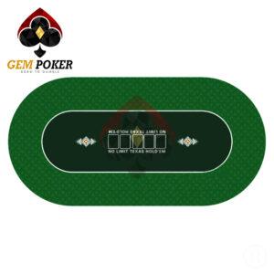 oval texas poker mat